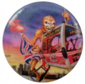 Iron Maiden - 'Eddie UK Eye London' Button Badge